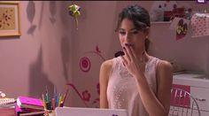 Violetta en video llamada con  Diego