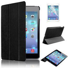 for iPad mini New Ultra Slim Smart PU Leather Case Cover for Apple iPad Mini 1 2 3 + Screen Protector + Stylus