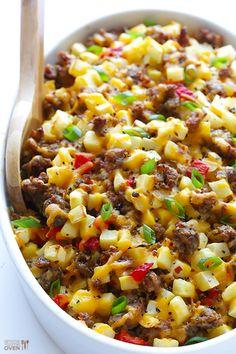 Cheesy Breakfast Potato Casserole | AllFreeCasseroleRecipes.com