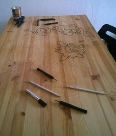An Engraved Wooden Risk Game Table | Make:
