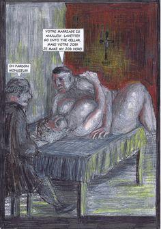 Abbey Bouc lässt die Katze aus dem Sack: Da der arme Ritter Pettitqueue seine Ehe nie vollzogen hat, ist sie laut Kirchenrecht auch nicht gültig. Umgekehrt gab es kirchliche Empfehlungsschreiben im 18. Jahrhundert, die katholischen Priestern Beziehungen zu Frauen (sogar verheirateten) ausdrücklich erlaubten.