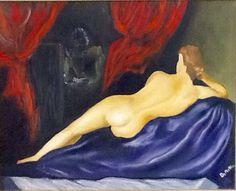 La Venere a modo mio  Di Umberto De Mattia olio su tela