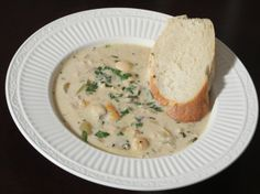 Laura's Clam Chowder and Fresh Sourdough Bread | More Savory, Less Sweet