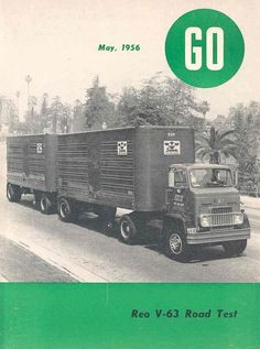1956 Reo V63 Double Tractor Trailer Truck Brochure wh3499-41E7HS