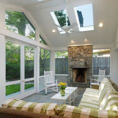 White Screen Porch Home Design Ideas, Pictures, Remodel and Decor