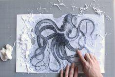 How to transfer an image onto canvas Gel Medium Transfer, DIY Vintage Art Collage