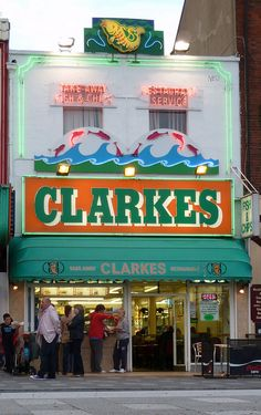 Clarkes chippy on Southend seafront