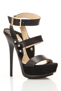 Jimmy Choo Halley Sandal In Black - Beautiful! Fab Shoes, Crazy Shoes, Cute Shoes, Me Too Shoes, Zapatos Shoes, Shoes Heels, Sexy Heels, Pumps, Stilettos