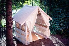 Domek z palet | Wood pallets playhouse project