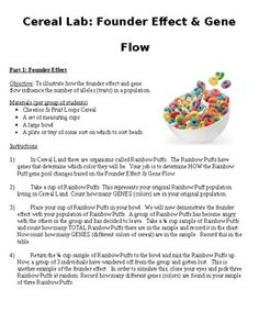 Genetic Drift and Gene Flow Cereal Lab General Biology, Ap Biology, Genetic Drift, Biology Experiments, Teaching Resources, Teaching Ideas, Unit Plan, Science Classroom, Interactive Notebooks