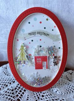 Susan - using the Tinsel & Tags dies with the Shakers and Sprinkles. . .