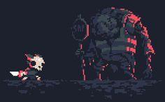 Pixel art exploration from Powerhoof, makers of Crawl.: