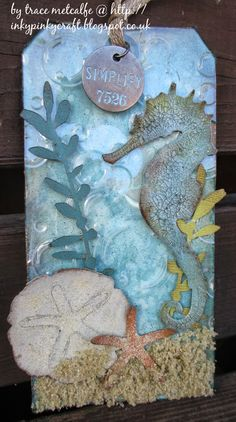 inkypinkycraft: My take on Tim Holtz 12 tags for 2014 - July