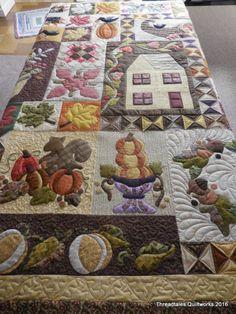 Autumn quilt with OMNI threads