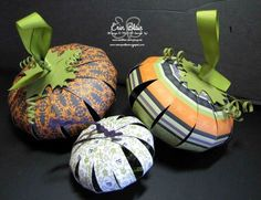 Craft paper pumpkins