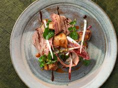 Smoked Beef Short Rib, Goose Liver and Carrot Gastirique - Rupert Rowley