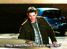 """[gif] """"Hey sweetheart, did you miss me?"""" - Dean to Baby  #Supernatural  'Lazarus Rising'  4.01"""