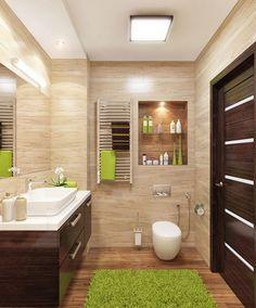 32 Small Bathroom Design Ideas for Every Taste - The Trending House Bathroom Design Small, Bathroom Layout, Bathroom Interior Design, Modern Bathroom, Master Bathroom, Bathroom Cabinets, Bathroom Vanities, Bathroom Designs, Minimalist Bathroom