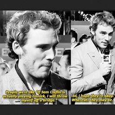 A) Sam Claflin is an absolutely amazing Finnick. B) regardless of whether you like him as Finnick, please don't say those things about such an awesome dude. C) this response to all the hate just makes me love Sam Claflin even more. Hunger Games Memes, Hunger Games Cast, Hunger Games Fandom, Hunger Games Catching Fire, Hunger Games Trilogy, Sam Claflin, Trauma, Fangirl, I Volunteer As Tribute