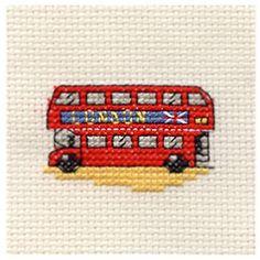 Buy Mouseloft London Bus Cross Stitch Kit Online at johnlewis.com