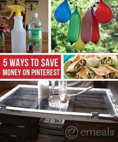5 ways to save $ w/ Pinterest!