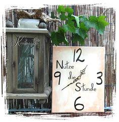 Wie man aus Keilrahmen eine Uhr basteln kann ohne viel Aufwand das zeigen wir hier: http://kreativ-zauber.de/keilrahmen-uhren-gestalten/