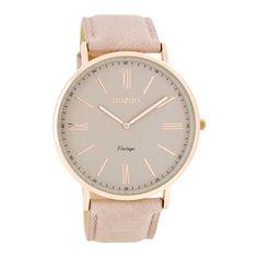 OOZOO Vintage horloge Beige/Taupe C7342