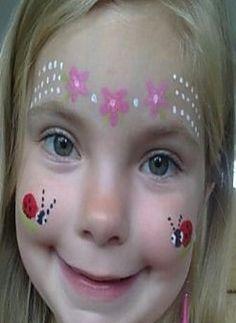 Face Painting Ideas #Ladybird #Flowers #Ladybird
