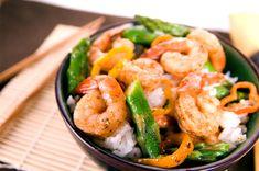 Chili Shrimp and Asparagus Stir Fry Asian Fast Metabolism Recipes, Fast Metabolism Diet, Metabolic Diet, Asparagus Stir Fry, Shrimp And Asparagus, Seafood Recipes, Seafood Dishes, Cooking Recipes, Skinny Recipes