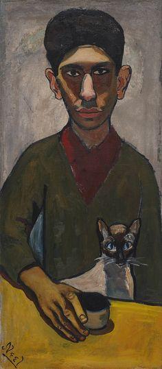 Eddie Zuckermandel by Alice Neel, 1948, oil on canvas, 87 x 38.4 cm, 34 1/4 x 15 1/8 in by  | Exhibitions | Victoria Miro