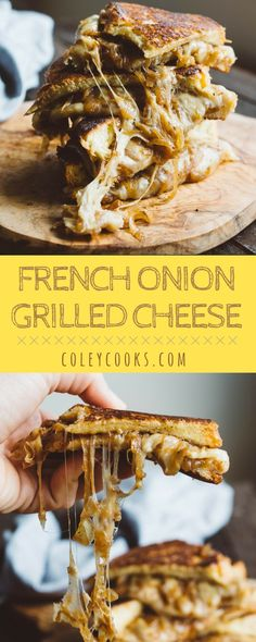 Nutritious Snack Tips For Equally Young Ones And Adults French Onion Grilled Cheese Ooey Gooey Melted Cheese And Deeply Caramelized Onions On Buttery Toasted Bread Best Grilled Cheese, Grilled Bread, Grilled Cheese Recipes, Sandwich Recipes, Lunch Recipes, Great Recipes, Cooking Recipes, Favorite Recipes, Sandwich Ideas