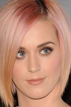 Katy Perry hair - I love this rose gold hued color