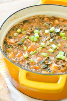 Nightshade-Free Vegetable Beef Soup {AIP Paleo Gluten-Free Grain-Free Dairy-Free Soy-Free Whole Autoimmun Paleo, Paleo Soup, Paleo Recipes, Soup Recipes, Cooking Recipes, Keto, Healthy Soup, Dieta Aip, Gluten Free Recipes