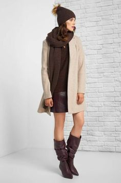 Beanie čiapka s brmbolcom Beanie, Sweaters, Dresses, Fashion, Gowns, Moda, La Mode, Pullover, Sweater