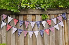 I think it would be fun to use this for Memorial day, Fourth of July and Labor Day!  I have also seen where people make Happy Birthday banners like this :)!