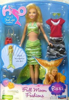 H2O DELUXE JUST ADD WATER RIKKI DOLL H20 VERY RARE Charm For