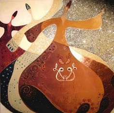 Islamic mysticism. Whirling dervish by Canan Berber.