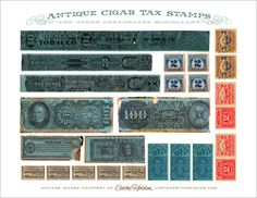 Cigar Box Tax Stamps: Free Digital Download