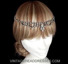 Great Gatsby Headpiece - Vintage Forehead Band - Art Deco Headpiece - Flapper Headpiece - Vintage Halo - Bridal Headpiece - Wedding Circlet on Etsy, $123.07