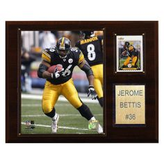 NFL 12 x 15 in. Jerome Bettis Pittsburgh Steelers Player Plaque - 1215BETTIS