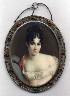 miniature portrait  Likeness of Madame Recamier...see full length painting.