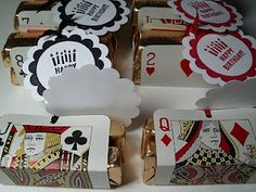 Las Vegas Favors - hersheys nuggets wrapped in playing cards