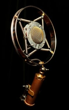 This can be a focal point in the studio. It's beautiful! Keyboardmag: Ear Trumpet Labs introduces steampunk Myrtle microphone
