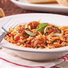 Ragoût de boulettes à l'italienne - Les recettes de Caty Meatball Recipes, Meat Recipes, Dinner Recipes, Healthy Recipes, Dessert Recipes, Confort Food, Slow Cooker Chicken, How To Cook Pasta, Italian Recipes