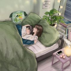 visit our website for the latest home decor trends . Cute Couple Drawings, Cute Couple Art, Anime Love Couple, Couple Cartoon, Romantic Anime Couples, Cute Couples, Cute Love Cartoons, Dibujos Cute, Couple Illustration