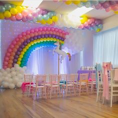 ideas for birthday party decorations rainbow baby shower Rainbow Unicorn Party, Rainbow Birthday Party, Rainbow Theme, Unicorn Birthday Parties, Birthday Party Decorations, Girl Birthday, Birthday Ideas, Rainbow Baby, Unicorn Party Decor