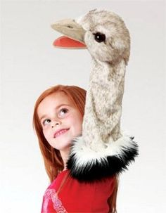 PuppetU.com - Folkmanis Ostrich Stage Puppet 2872, $19.50 (http://store.puppetu.com/folkmanis-ostrich-stage-puppet-2872/)