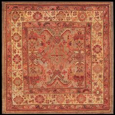 Stock Id: #21104    General Rug Type:       Turkish Decorative    Specific Rug Type:       Oushak    Circa: 1900    Color: Grey    Origin: Turkey    Width: 6' 8'' ( 203.2 cm )    Length: 6' 10'' ( 208.3 cm )