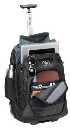 OGIO Wheelie Pack Wheeled Upright Black Laptop / MacBook Pro Backpack This travel essential runs circles around other bags because it quickly converts from Backpack With Wheels, Backpack For Teens, Black Backpack, Backpack Bags, Computer Backpack, Computer Bags, Rolling Backpack, Hydration Pack, Girl Backpacks