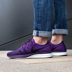 xnike-flyknit-trainer-night-purple-black-white-ah8396-500-1_1 Nike Flyknit Trainer, Purple And Black, Black And White, Sneaker Release, Nike Free, Trainers, Sneakers Nike, Night, My Style